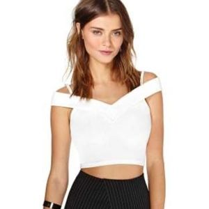 NastyGal Crop Top White